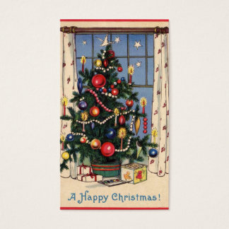 Retro Gift Tag-See Back Business Card