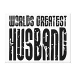 Retro Gifts for Husbands World's Greatest Husband Gallery Wrap Canvas
