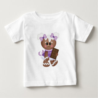 Retro Gingerbread Girl with Chocolate Shirts