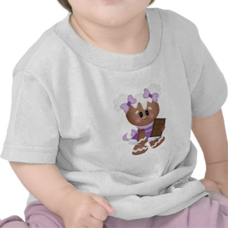 Retro Gingerbread Girl with Chocolate T-shirt