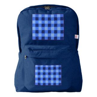 Retro Gingham Blue Backpack