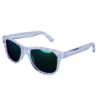 Retro Gingham Blue Sunglasses