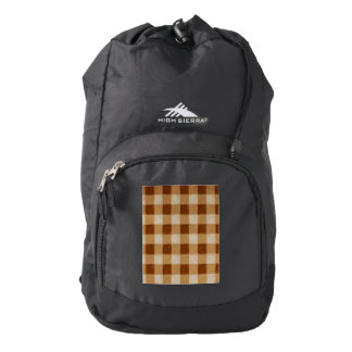 Retro Gingham Brown Backpack