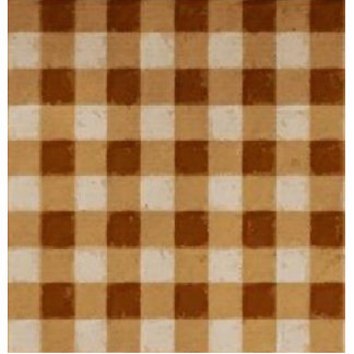 Retro Gingham Brown Acrylic Cut Out