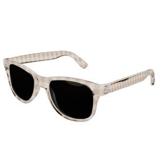 Retro Gingham Brown Sunglasses