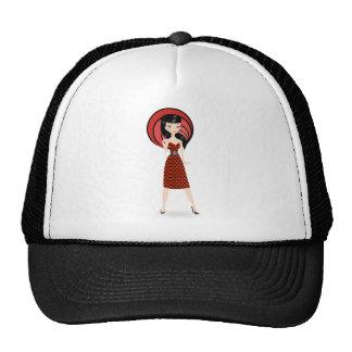 Retro Girl Mesh Hat