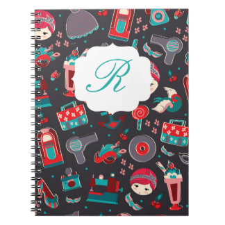 Retro Girl Notebook