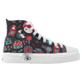 Retro Girl Printed Shoes