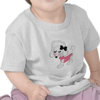 Retro Girly Paris Poodle Dog Shirts