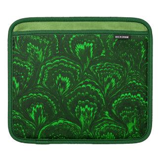 Retro Girly Vintage Swirls Emerald Green Sleeve For iPads