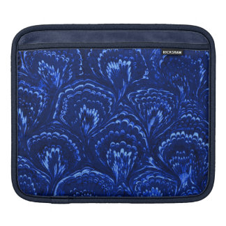 Retro Girly Vintage Swirls Sapphire Blue Sleeves For iPads
