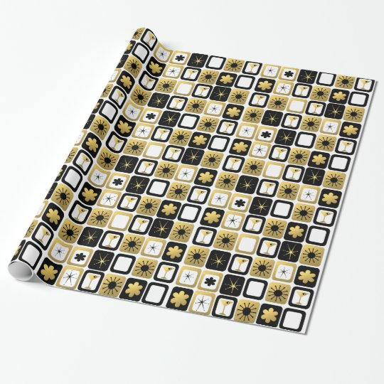 Retro Glamourous Gold Wrapping Paper