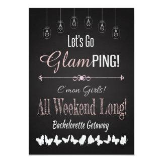 Retro Glamping Bachelorette Getaway Weekend 5x7 Paper Invitation Card