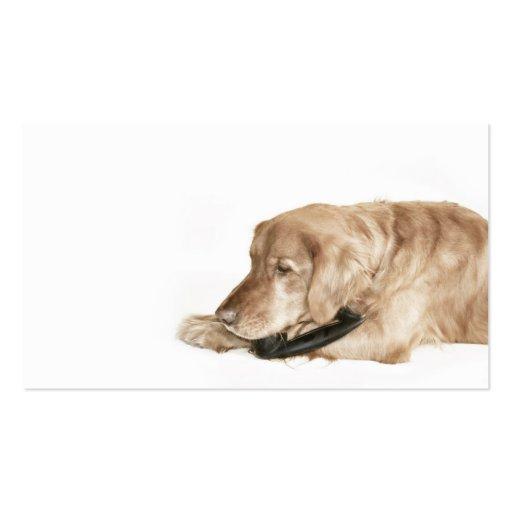 Retro Golden Retriever business card