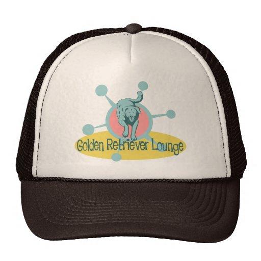 Retro Golden Retriever Lounge Hats