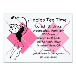 Retro Golf Babe Invitation