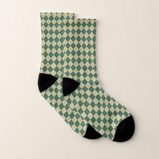 Retro Golf Green Argyle Socks 1
