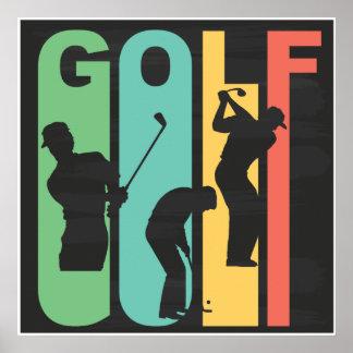 Retro Golf Poster