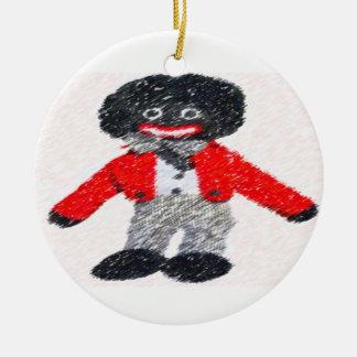 Retro Golly Christmas Ornament