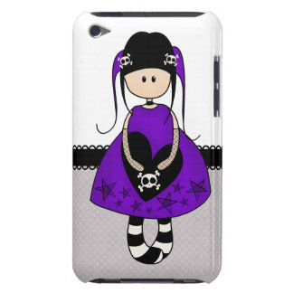 Retro Goth Girl with Skulls iPod Touch Cases