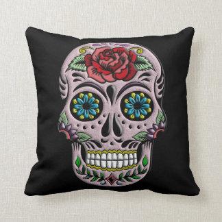 Retro Goth Sugar Skull Cushion