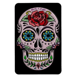 Retro Goth Sugar Skull Magnet