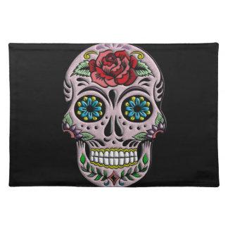 Retro Goth Sugar Skull Placemat