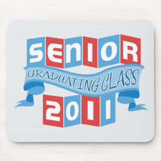 Retro Graduating Class Banners 2011 Mouse Pad