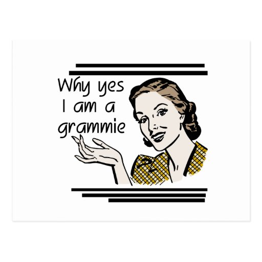 Retro Grammie T-shirts and Gifts Postcards