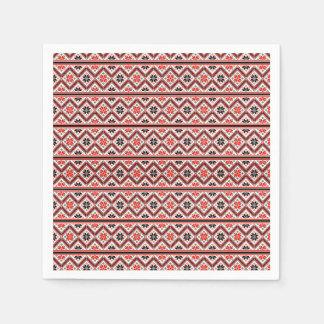 Retro Graphic Design Pattern Disposable Serviette