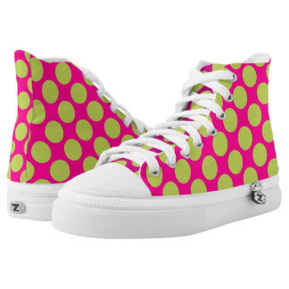 Retro Graphic Design Pattern High Tops
