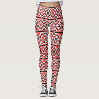 Retro Graphic Design Pattern Leggings
