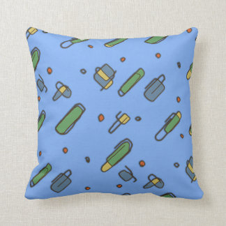 Retro Graphical Clips Pattern on any Color Cushion