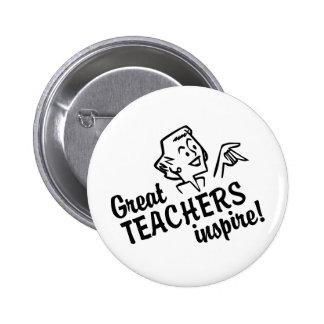 Retro Great Teachers Inspire Button