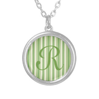 Retro Green and Cream Awning Stripes Jewelry