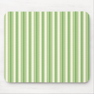 Retro Green and Cream Awning Stripes Mouse Pad