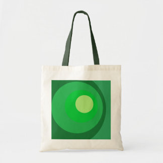 Retro Green Circles Tote Bag