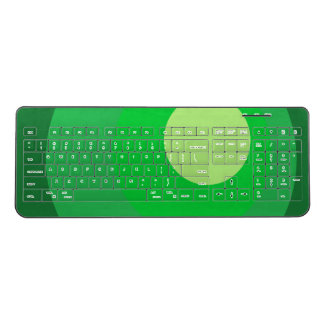 Retro Green Circles Wireless Keyboard