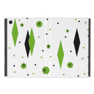 Retro Green Diamonds & Starbursts iPad Mini Case
