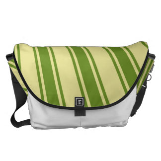 Retro Green Funky Sun Rays Background Courier Bags