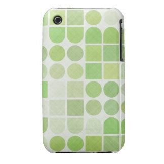 Retro Green Geometric Pattern Case-Mate iPhone 3 Cases