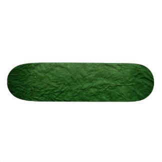 Retro Green Grunge Crumpled Paper Skateboard Decks