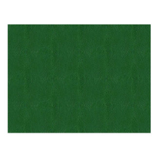 Retro Green Grunge Leather Texture Postcard