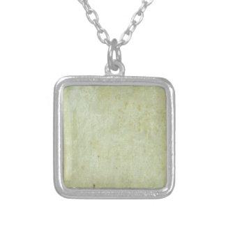 Retro Green Grunge Pattern Necklace