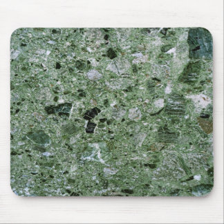 Retro Green Marble Stone Texture Pattern Mouse Pad