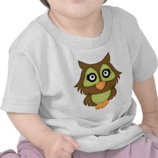 Retro Green Owl Tees