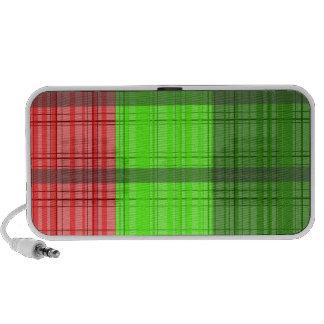 Retro green red transparent plaid notebook speaker