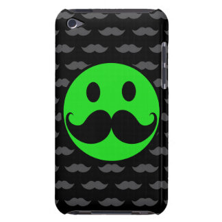 Retro Green Smiley Mustache Moustache Stache Case-Mate iPod Touch Case