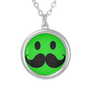 Retro Green Smiley Mustache Moustache Stache Jewelry