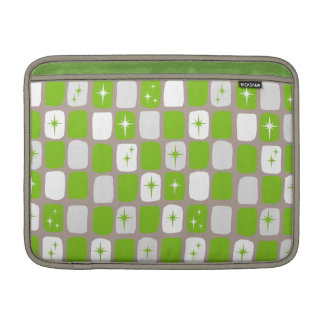 Retro Green Starbursts MacBook Air Sleeve